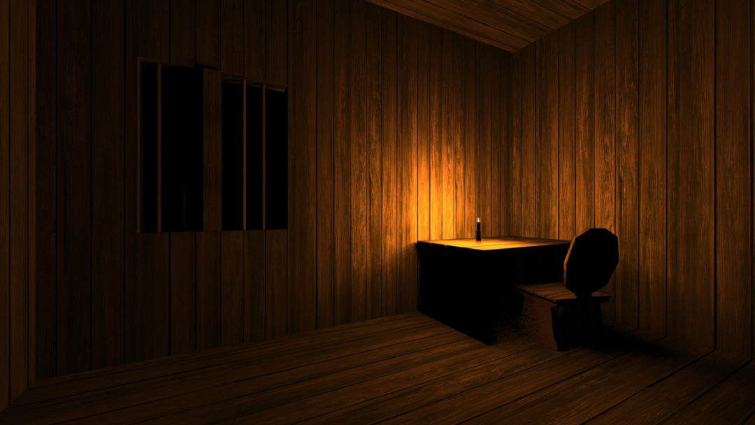 Dark Room With Candle Light